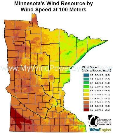 Wind Farms On Family Farms In Minnesota United States MWPS World - Wind farms in the us map
